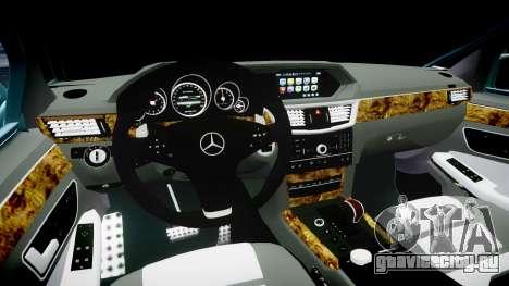 Mercedes-Benz W211 E55 AMG Vossen VVS CV5 для GTA 4 вид изнутри