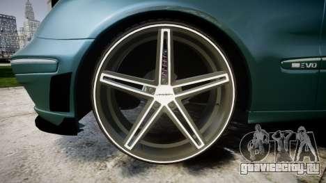 Mercedes-Benz W211 E55 AMG Vossen VVS CV5 для GTA 4 вид сзади