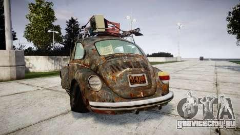 Volkswagen Beetle rust для GTA 4 вид сзади слева