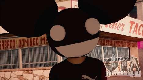 Deadmau5 Skin для GTA San Andreas третий скриншот