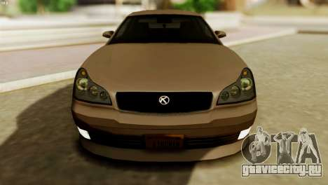 GTA 5 Intruder Tuning Bumpers для GTA San Andreas вид справа