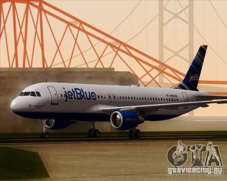 Airbus A320-200 JetBlue Airways для GTA San Andreas вид слева