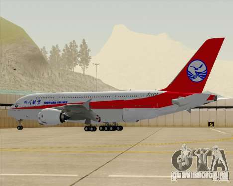 Airbus A380-800 Sichuan Airlines для GTA San Andreas вид снизу