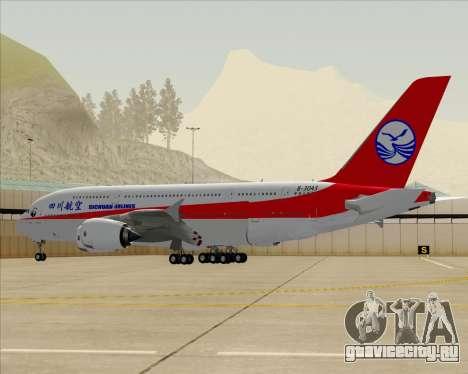 Airbus A380-800 Sichuan Airlines для GTA San Andreas вид снизу