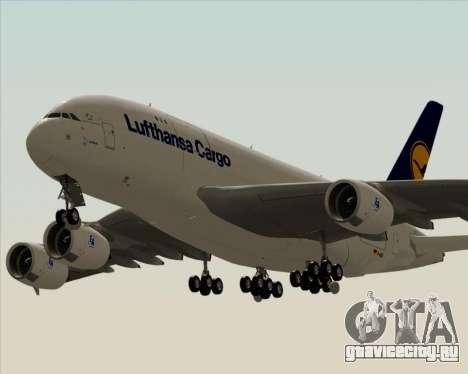 Airbus A380-800F Lufthansa Cargo для GTA San Andreas вид изнутри