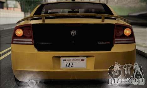 Dodge Charger SuperBee для GTA San Andreas вид справа