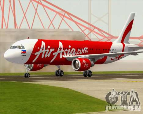 Airbus A320-200 Air Asia Philippines для GTA San Andreas вид слева