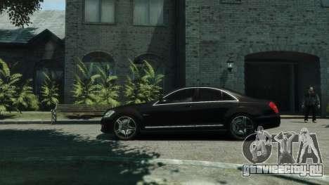 Mercedes-Benz W221 S63 AMG для GTA 4 вид слева