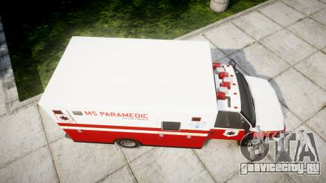 Vapid V-240 Ambulance для GTA 4 вид справа