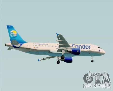 Airbus A320-200 Condor для GTA San Andreas вид сзади
