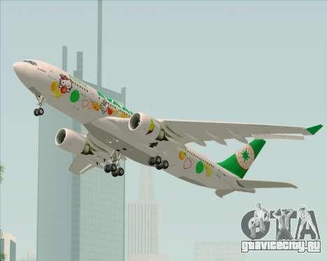 Airbus A330-200 EVA Air (Hello Kitty) для GTA San Andreas вид изнутри