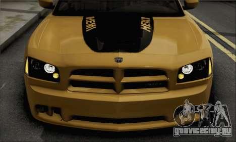 Dodge Charger SuperBee для GTA San Andreas вид сзади слева