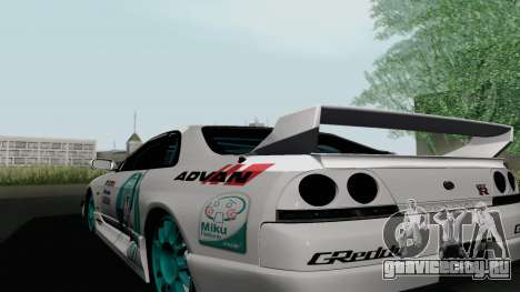 Nissan Skyline GT-R33 для GTA San Andreas вид сзади слева