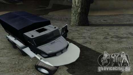 ЗиЛ Кержак 6х6 для GTA San Andreas вид изнутри