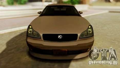 GTA 5 Intruder Tuning Bumpers для GTA San Andreas вид сзади слева