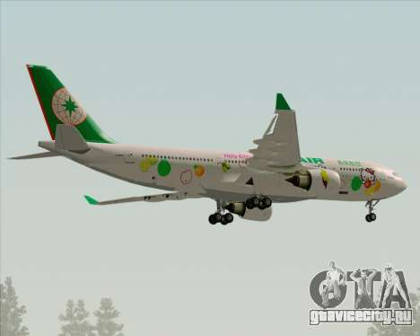 Airbus A330-200 EVA Air (Hello Kitty) для GTA San Andreas вид сверху