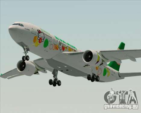 Airbus A330-200 EVA Air (Hello Kitty) для GTA San Andreas двигатель