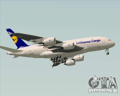 Airbus A380-800F Lufthansa Cargo для GTA San Andreas вид сзади
