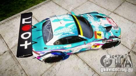 BMW Z4 GT3 2014 Goodsmile Racing для GTA 4 вид справа
