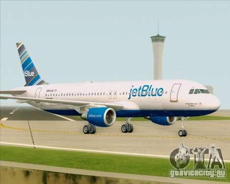 Airbus A320-200 JetBlue Airways для GTA San Andreas вид сверху