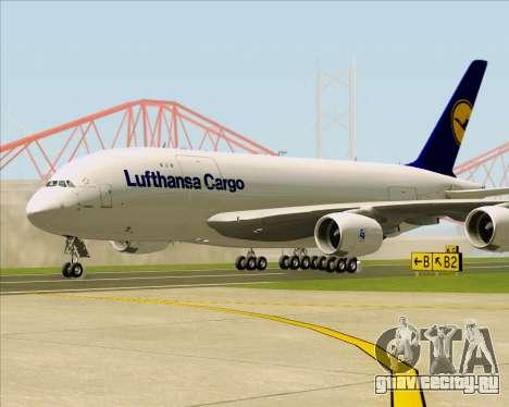 Airbus A380-800F Lufthansa Cargo для GTA San Andreas вид слева