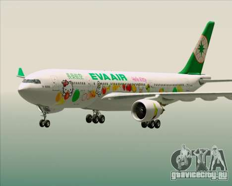 Airbus A330-200 EVA Air (Hello Kitty) для GTA San Andreas салон
