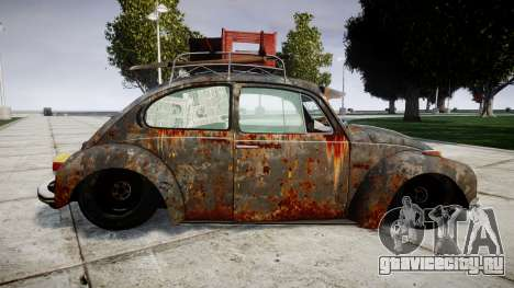 Volkswagen Beetle rust для GTA 4 вид слева