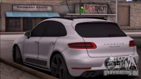 Porsche Macan для GTA San Andreas вид сзади слева