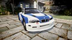 BMW M3 E46 GTR Most Wanted plate NFS Pro Street для GTA 4