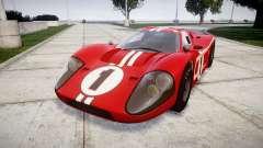 Ford GT40 Mark IV 1967 PJ 1 для GTA 4