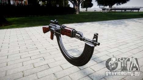 Автомат АК-47 Collimator and HICAP для GTA 4