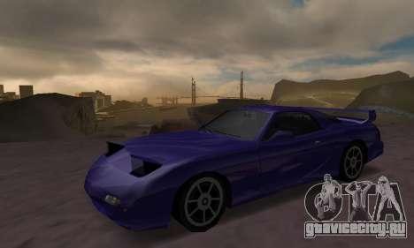 Beta ZR-350 для GTA San Andreas вид сзади