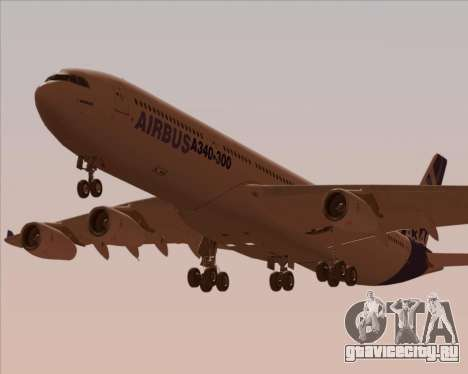 Airbus A340-300 Airbus S A S House Livery для GTA San Andreas двигатель