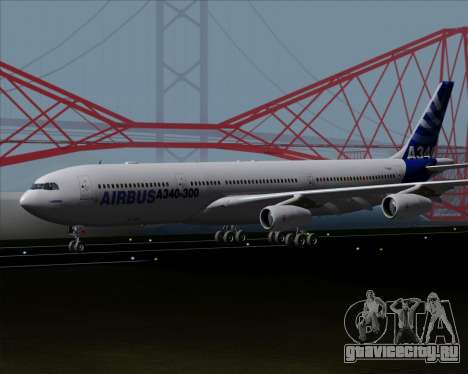 Airbus A340-300 Airbus S A S House Livery для GTA San Andreas вид слева