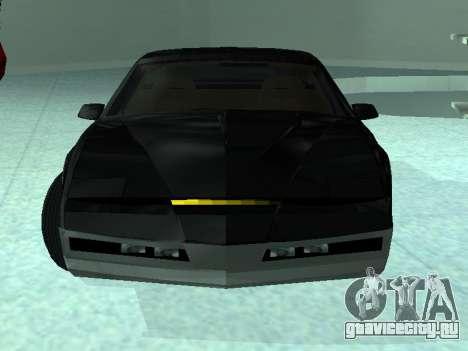 Pontiac Trans-Am K. A. R. Р. для GTA San Andreas вид сзади слева
