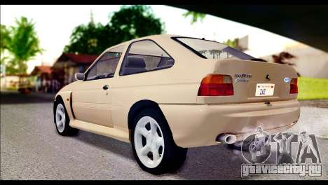 Ford Escort RS Cosworth [HQLM] для GTA San Andreas вид слева