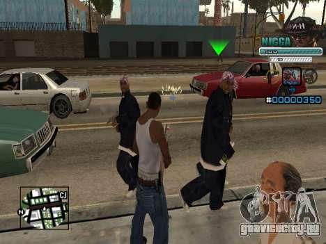 C-HUD Человек в Кепке для GTA San Andreas второй скриншот