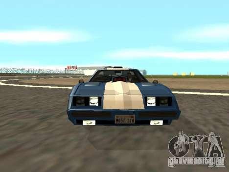 New Phoenix для GTA San Andreas вид снизу