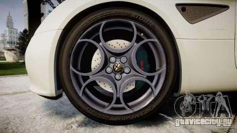 Alfa Romeo 8C Competizione 2008 для GTA 4 вид сзади