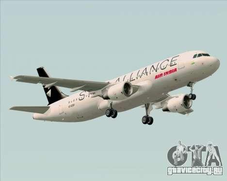 Airbus A320-200 Air India (Star Alliance Livery) для GTA San Andreas вид сзади