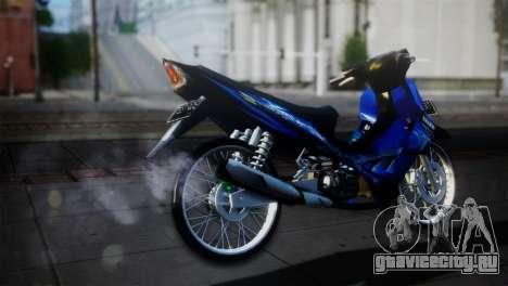 Yamaha Jupiter Z Burhan для GTA San Andreas вид сзади слева