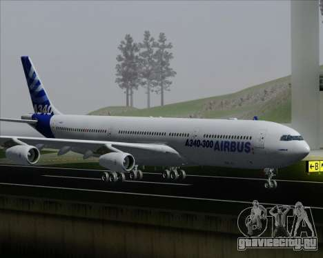 Airbus A340-300 Airbus S A S House Livery для GTA San Andreas колёса