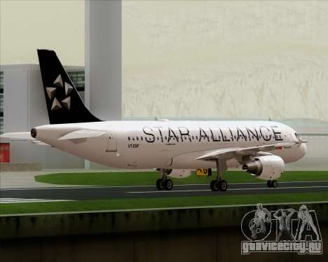 Airbus A320-200 Air India (Star Alliance Livery) для GTA San Andreas вид снизу