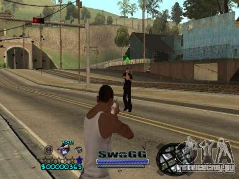 CLEO HUD SWAGG для GTA San Andreas третий скриншот