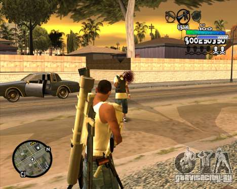 С-HUD Metro для GTA San Andreas третий скриншот