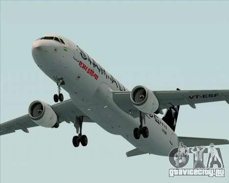 Airbus A320-200 Air India (Star Alliance Livery) для GTA San Andreas двигатель