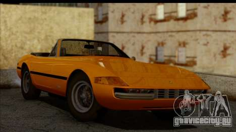 Ferrari 365 GTS4 Daytona (US-spec) 1971 для GTA San Andreas вид сзади слева