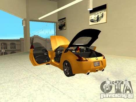 Nissan 370 Z Z34 2010 Tunable для GTA San Andreas вид изнутри