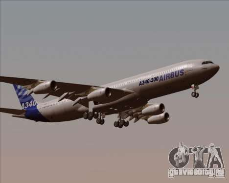 Airbus A340-300 Airbus S A S House Livery для GTA San Andreas вид изнутри