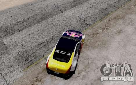 Nissan 350Z Red Bull для GTA San Andreas вид изнутри